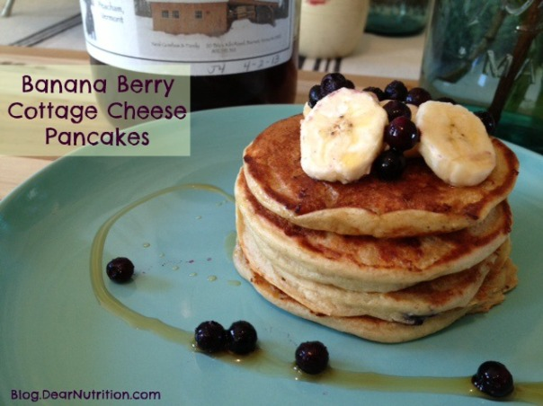 banana berry pancake stack_DN