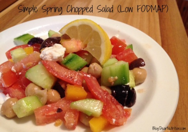 Simple Spring Chopped Salad
