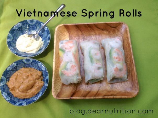 Vietnamese Spring Rolls (low FODMAP)