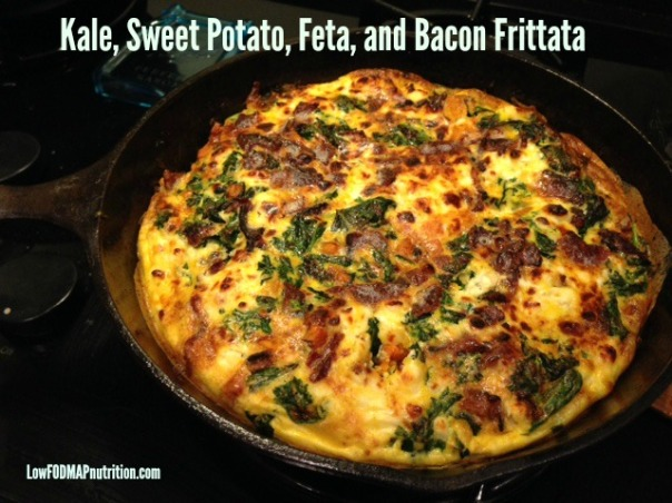 Kale, Sweet Potato, Feta, and Bacon Frittata (Low FODMAP)